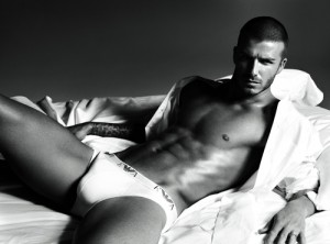David Beckham in Armani
