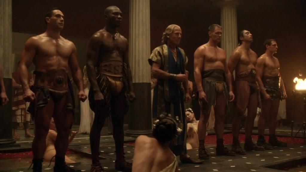 Spartacus nude scene