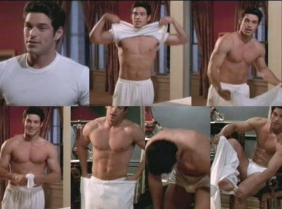 Collage of Eddie Cibrian in Underwear
