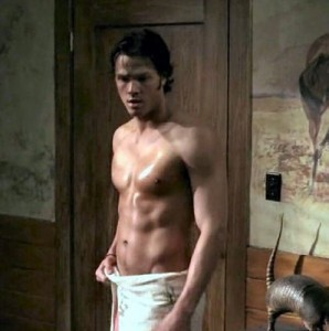 Jared Padalecki in a Towell