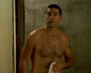 Matthew Fox Lost in a Towell