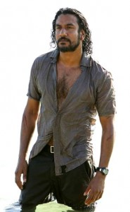 Naveen Andrews Wet!