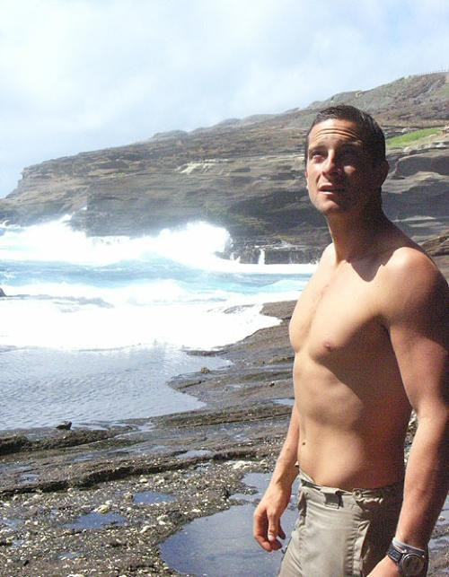 Bear Grylls Shirtless
