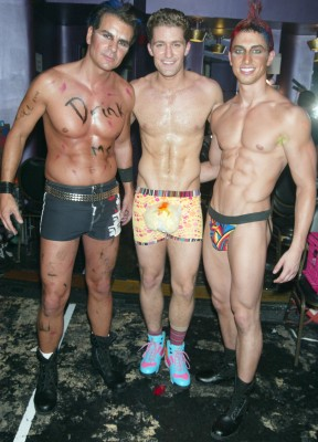 Matthew Morrison (Middle) Shirtless