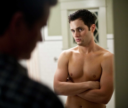 penn badgley shirtless