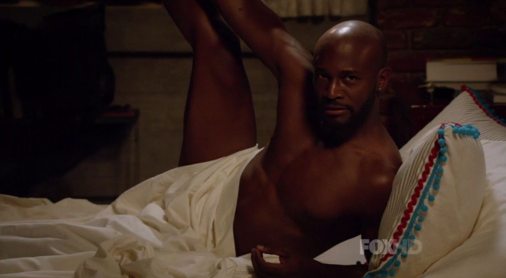 Taye Diggs Shirtless In Bed