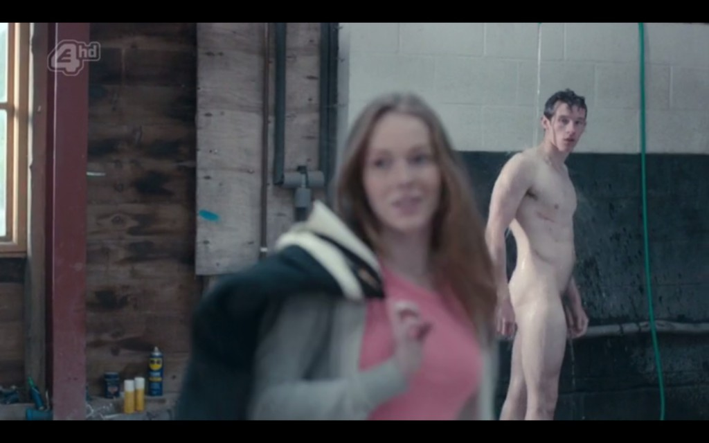 Callum Turner Fully Naked in Glue