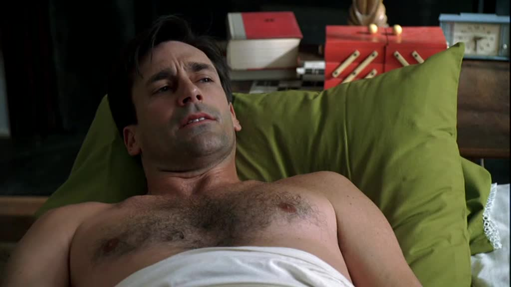 Shirtless Jon Hamm on Mad Men