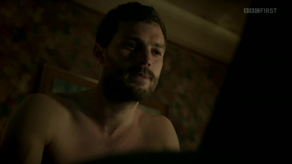 Shirtless Jamie Dornan on The Fall