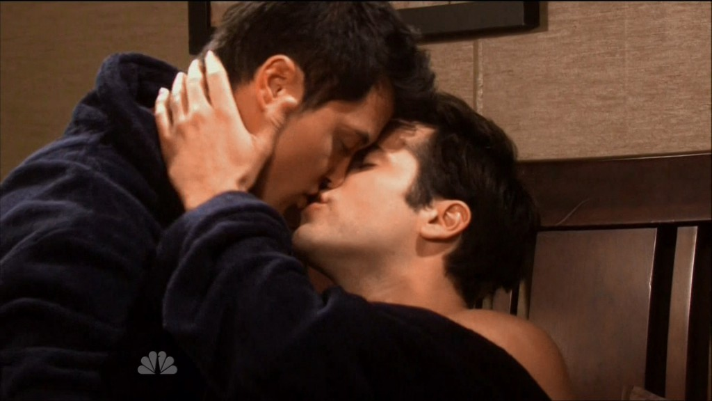 freddie smith christopher sean shirtless gay days of our lives kiss