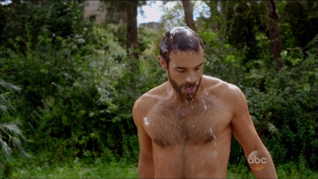 Joshua Sasse Hairy and Shirtless