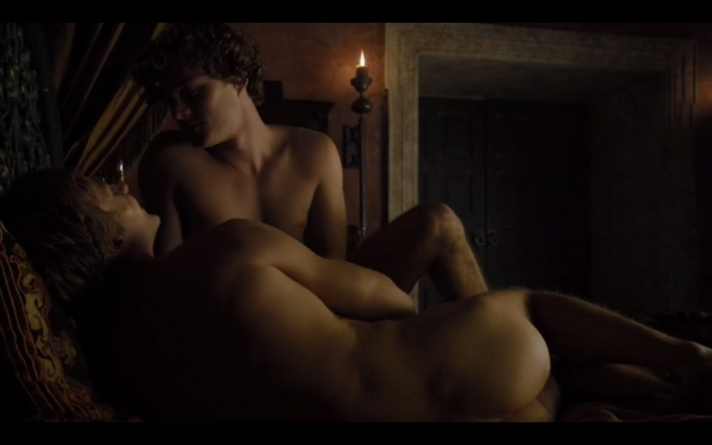 Will Tudor and Finn Jones gay scene