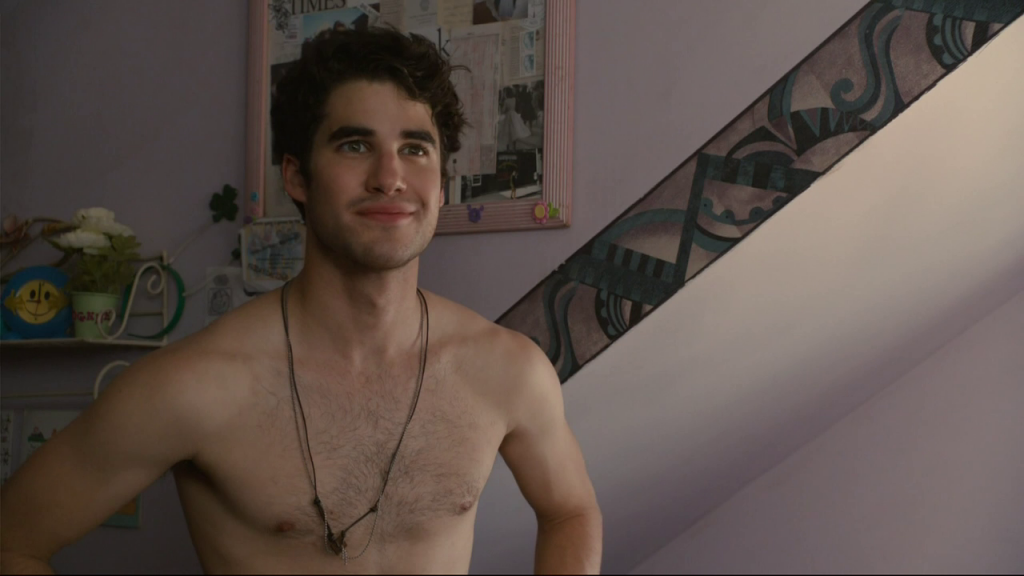 Darren Criss shirtless in Imogene