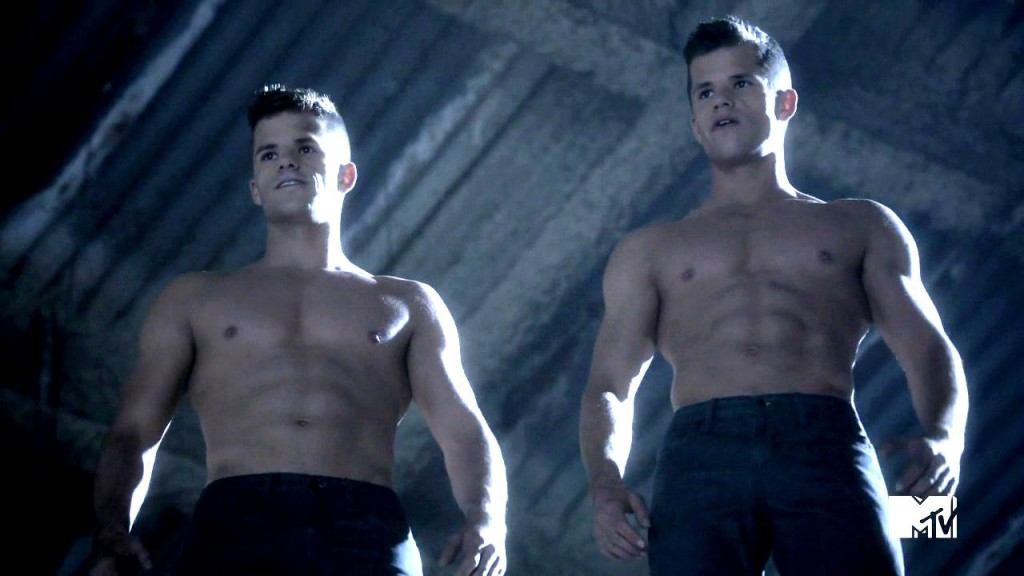 Max and Charlie Carver Shirtless