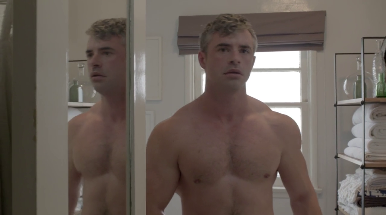 James Cerne Shirtless In You're Killing Me